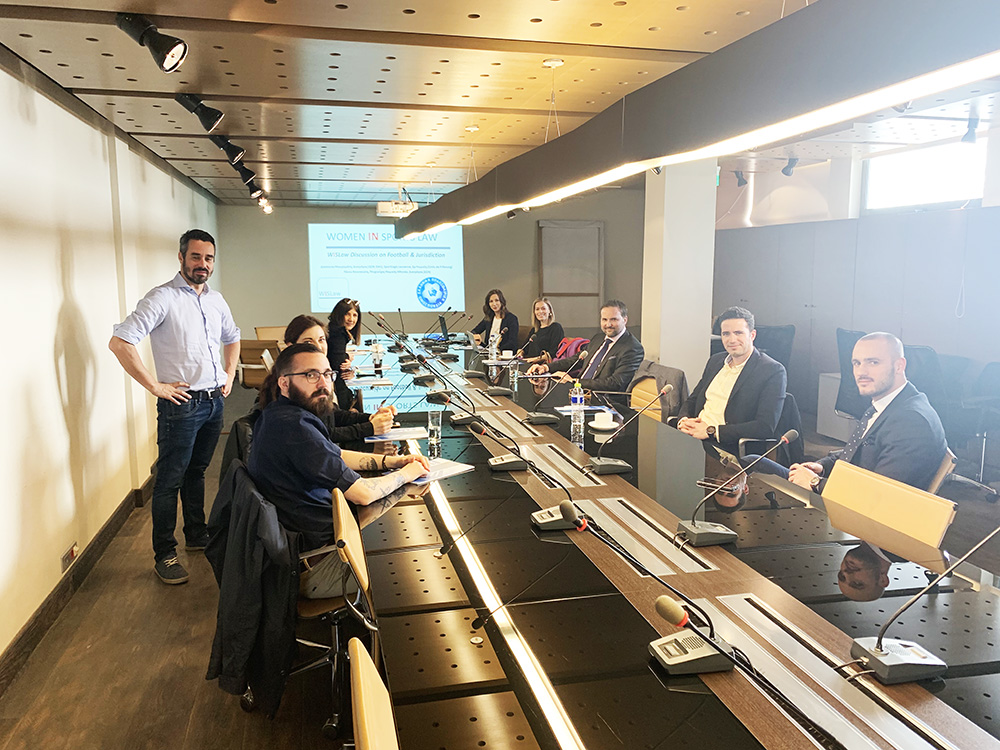 WISLaw talk on football jurisdiction hosted by the Hellenic Football Federation in Athens on March 22 2019