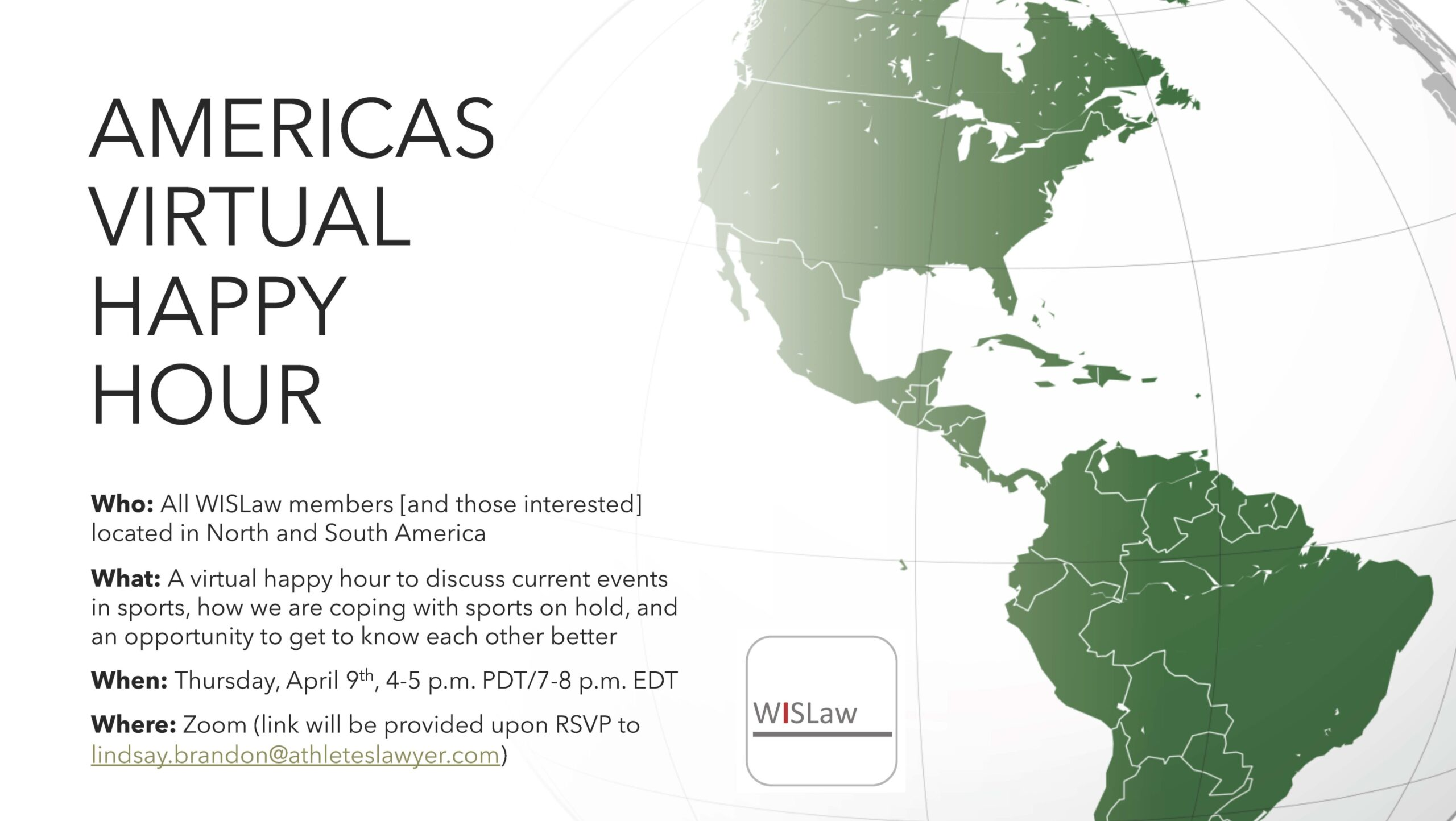 Americas Virtual Happy Hour - 9 April 2020